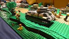 Battle of France (Rebla) Tags: world 2 france barn french war tank lego side country wwii battle ww2 behind frontline tanks allo moc 2015 hardenberg brickarms brickizimo