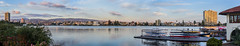 gondola servizio (pbo31) Tags: california sunset summer sky panorama lake color reflection oakland boat nikon large august panoramic lakemerritt gondola eastbay stitched alamedacounty servizio 2015 boury pbo31 d810 lakechalet