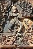 Cambodia - Angkor Banteay Srey Carving (zorro1945) Tags: sculpture art architecture asia cambodia carving siemreap angkor indochina banteaysrey templesofangkor khmerart sandstonecarving khmerarchitecture celestialdancer