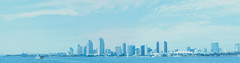San Diego Skyline Panorama, California (Shaun Nelson) Tags: california film skyline 35mm minolta 35mmfilm sandiegoca sandiegoskyline fpp colorfilm srt202 colorslidefilm retrochrome utfp filmphotographyproject utahfilmphotography utahfilmphotographycom