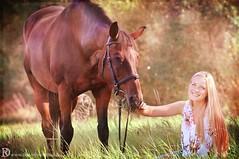 Theresa & Ricky (Dorothee Rund) Tags: horse girl hair long sommer herbst feld blond braun pferd mädchen haar kleid galopp reiterin langes weises