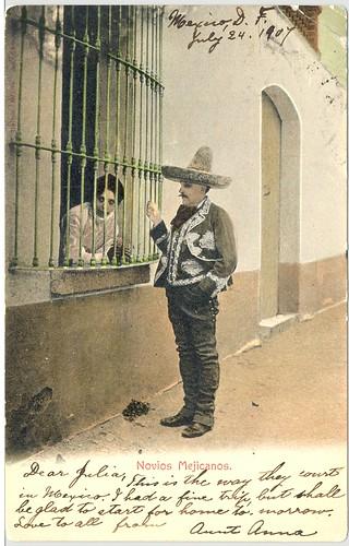 Vintage Mexican Postcard 1907