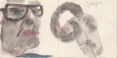 in Speyer am deutschnationalen Brunnen (raumoberbayern) Tags: pencil watercolor münchen bayern bavaria drawings sketchbook sketches zeichnungen bleistift rheinlandpfalz aquarell robbbilder rhinelandpalatinate
