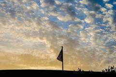 Patriotic sunset (Gonzalo Ribas) Tags: sunset england sky clouds nikon britain flag ngc great shade gibraltar 18105mm d5100