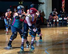 rebels_vs_panic_L3506481 1 (nocklebeast) Tags: ca usa santacruz rollerderby rollergirls zombies vampires skates organicpanic santacruzderbygirls redwoodrebels