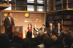 El rey Felipe VI visita la Universidad de Georgetown primer encuentro de científicos españoles en EEUU