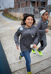 Moos Elementary School students get fit on The 606 thanks to new partnership between The Trust for Public Land and Under Armour.
