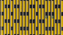 Brazil (K.rar) Tags: world windows brazil green window yellow brasil jaune hotel bresil saopaulo flag competition grand skills vert huge symetry paulo sao fenetre drapeau fenetres htel symetrie anhembi worldskills