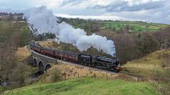 Santa's Here (4486Merlin) Tags: england europe unitedkingdom transport steam northeast railways westyorkshire gbr oakworth keighleyworthvalleyrailway santaspecials heritagerailways 75078 exbr mytholmestunnel brstd4mt460