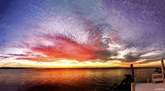 Perfection Of Dusk At Tampa Bay Florida - IMRAN™ (ImranAnwar) Tags: 2016 apollobeach beach beautiful boating clouds dock dusk florida gratitude gulfofmexico imran imrananwar iphone jetski life lifestyle marine miracle nature night ocean orange outdoors panorama pastel philosophy photoshop pink realestate red seasons sky sun sunset symphonyisles tampa tampabay water waverunner winter yachting yamaha yellow