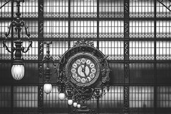 Paris Orsay museum (CreART Photography) Tags: paris museedorsay orsaymuseum clock bw old