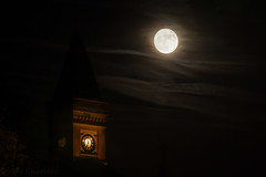 5 to 7 (Sandy Sharples) Tags: fullmoon tower moon luna astro night nightsky nightscape manchester england clock clocktower