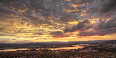 Canberra Sunset (mtom935) Tags: sunset drone dji canberra clouds