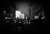 The Last Day - London City by Simon & His Camera (Simon & His Camera) Tags: city urban london building bw blackandwhite vignette black bus taxi piccadilly contrast dark night evening fog monochrome mist iconic light lights neon outdoor people simonandhiscamera street