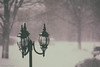 Peacefulness of snow (melike erkan) Tags: snow light lamp lamppost driveway neighborhood roc rochesterny pittsfordny pittsford snowday peace solitude silence white snowflakes analog retro trees