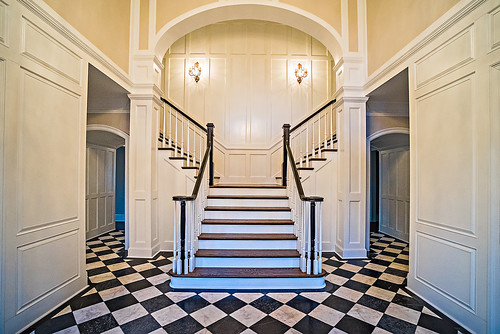 Classic staircase and moldings by Andronx