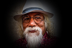 Man with Hat and Glasses, Street Portrait (klauslang99) Tags: streetphotography klauslang person portrait cuenca ecuador