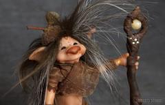 Mister Midibou (Shirleys Studio | Handmade Art Dolls) Tags: shirleysstudio shirleys shirley studio hand handmade art dolls doll midibou midibous sculpey movable posable polymer clay sculptures creatures boswezens trolletjes trollen trol troll trolls mysterious castlefest figurine creations artist kunst beeldende wezens wezentjes ooak rudy leemput