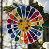 Colour for winter (annkelliott) Tags: alberta canada swofcalgary sheepriverchristmasbirdcount2016 garden acreage ornament circle colour colours colourful bright pattern buttons tree snow outdoor winter 27december2016 fz200 fz2004 annkelliott anneelliott ©anneelliott2016 ©allrightsreserved