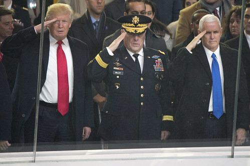 From flickr.com: Trump and Military {MID-154291}