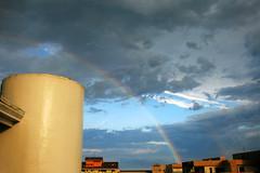 Somewhere Over the Rainbow (Klauss Egon) Tags: ubatuba toninhas rain sunny rainny chuva sol tarde canon brasil brazil beach house rainbow arco iris sky ceu landscape
