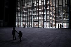 Athens, 2016 (Kostas Katsouris) Tags: people shadows silhouette kids building architecture athens greece fuji fujifilm xt10 urban glass niarchos foundation