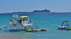 Cannes (thierry llansades) Tags: cannes golfe juan golfejuan bocca plage beach naturisme chateau mirandole horizon batterie baignade baigneuse naturiste mediterranée cote cotedazur azur
