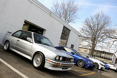 BMW M3 (E30) and Audi RS5 (Jeff_B.) Tags: cars caffe bergen newjersey newyork carscaffe automobile classic exotic exotics auto car italian german detail detailersdomain carwash wash detailing audi audiclub norwood detailclinic detailingclinic acna bmw m3 e30 s5 m4 f80 bbs usa