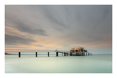"""Tranquility Base"" (PhotoChampions) Tags: pier tranquility balticsea shore 10stops nd exposure longtime longtimeexposure sky landscape architecture teehaus timmendorf wolkenlos restaurant meer küste seebrücke deutschland germany europe water sea gnd beach"