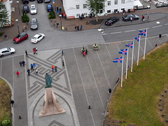 Leif Eriksson statue infront of The church!