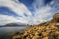 Elgol Beach, Isle of Skye, Scotland with the Lee Big Stopper during the day (capturedcanvas.co.uk) Tags: ocean uk longexposure travel blue mountain seascape mountains skye green art water clouds canon reflections lens landscape island coast highlands rocks long exposure moody isleofskye cloudy scenic dramatic smith coastal filter lee usm colourful filters 1740mm 1740 manfrotto 6d 1740l elgol longshutterspeed leefilter