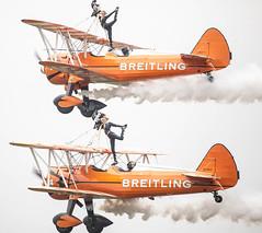 Wings & Wheels Breitling Wingwalkers (chansen1972) Tags: show uk plane fly wings upsidedown air watch wheels wing surrey airshow walker devil dare walkers trapeze daredevil stunt dunsfold breitling wingwalkers watvh