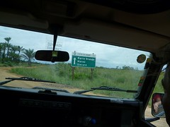 On our way to Barra Grande (Tjeerd) Tags: roadsign brazil barragrande brasil holiday summerinbrazil onthemove inthecar