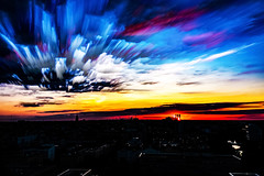 Robert Emmerich - 05 TSLE Time stack - StarStaX - Sunset over Berlin West - Germany (Robert Emmerich Photography) Tags: sunset sky cloud berlin colors photoshop canon germany photography eos lights timelapse time stack dslr hdr lapse 2015 hdrphotography 40d cityscapephotography stuckinberlin europeanphotography hdrphotographers tsle timestack berlinerfotografen hdrtheworld photomaniagermany robertemmerich
