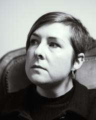 My friend Michelle (Mrs_Hadfield) Tags: light portrait female studio chair nikon filter blckandwhite 2470mm d600