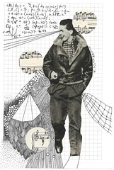 Universe 16 (The People In My Head) Tags: art collage drawings science micro particle atomic quark capra subatomic quantumphysics fritjof blackandwhitedrawings lizjames thepeopleinmyhead boxwiltshire lizfroudart lizfroudjames lizjamesfroud