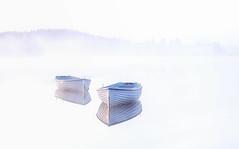 White with a hint of ...... (J McSporran) Tags: mist boats scotland trossachs morningmist lochrusky dawnmist