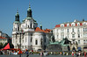 Church of St. Nicholas and Jan Hus Memorial, Old Town Square, Prague, Czech Republic (trphotoguy) Tags: czech prague czechrepublic baroque oldtown oldtownsquare stnicholaschurch lessertown churchofstnicholas baroquechurch janhusmemorial