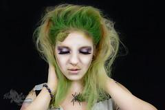 Beetlejuice (Hey_Lee! Photography) Tags: portrait green halloween girl hair movie effects photography costume moss scary spiders makeup creepy special spooky horror beetlejuice sfx 2015 heylee heyleephotography