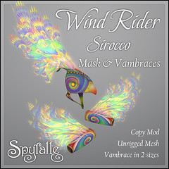 Spyralle WindRider Sirocco (Spyralle) Tags: mask mesh fantasy fractal windrider sirocco spyralle