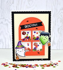 Happy Halloween (Liz Sarkisyan) Tags: halloween sequins booyah shakercard lawnfawn prettypinkposh