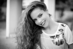 (Isai Alvarado) Tags: street light sunset red portrait urban woman white cinema black blur film girl smile fashion hair movie fun 50mm daylight blackwhite model eyes nikon focus dof bokeh stock cine lips cinematic 50mmf14 alvarado softlight d800 isai thania isaialvaradofotografia