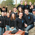 A group of Habitat for Humanity workers pose for a photo