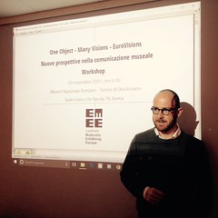 """""""One Object – Many Visions – EuroVision. Nuove prospettive nella comunicazione museale"""". EuroVision Lab. workshop for museum operators, 20th November 2015. • <a style=""""font-size:0.8em;"""" href=""""http://www.flickr.com/photos/109442170@N03/23144436375/"""" target=""""_blank"""">View on Flickr</a>"""