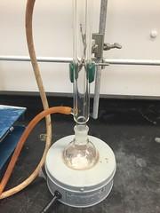 Reflux, Distillation, and Liquid-Liquid Extraction // 12.1.15 (bennjoyy) Tags: lab chemistry heater condenser variac reflux