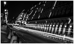 Cold night in Paris (MNP[FR]) Tags: street city winter urban blackandwhite paris france pose lights europe long exposure traffic noiretblanc trails samsung lonely rue iledefrance ville rivoli longue baladesparisiennes nx3000
