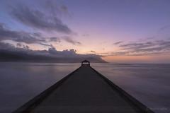 Tranquil (sathellite) Tags: ocean hawaii pier pacific sunsets kauai hanalei hanaleibay hawaiisunset sathellite shishirsathe