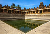 HISTORICAL SYMMETRY (ysoseriuos) Tags: bangalore nandihills architecture symmetry landscape colorful colorsofindia building pond perspective wideangle wideanglephotography india templecorner temple history ancientarchitecture ancient