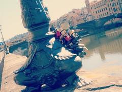 Visiting Firenze ! (France-♥) Tags: 3460 florence firenze italie italia locks cadenas pont river arnoriver europe lamppost love amour symbol fad