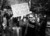 Donald Trump Protest - Manhattan - November 2016 (A Screaming Comes Across the Sky) Tags: nikon nikkor 35mm fs8 ai film analog analogue emulsion black white bw street nyc new york city manhattan trix 400 kodak blackandwhite monochrome road protest people crowd outdoor f28